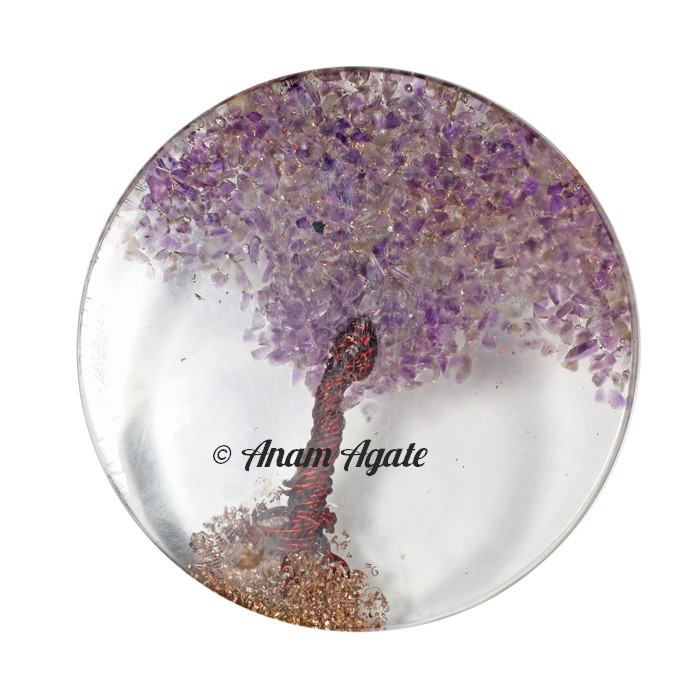 Amethyst Tree of Life Healing Coaster