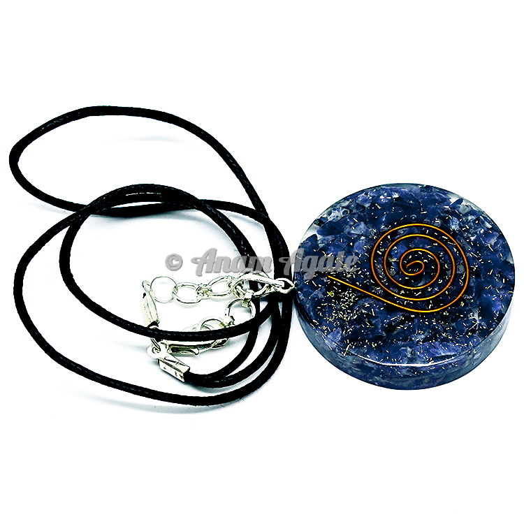 Sodalite Orgonite Pendant EMF Protection