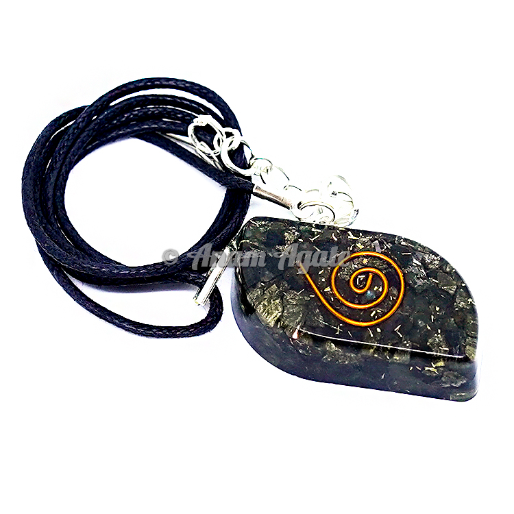 Pyrite Orgonite Eye Pendant EMF Protection
