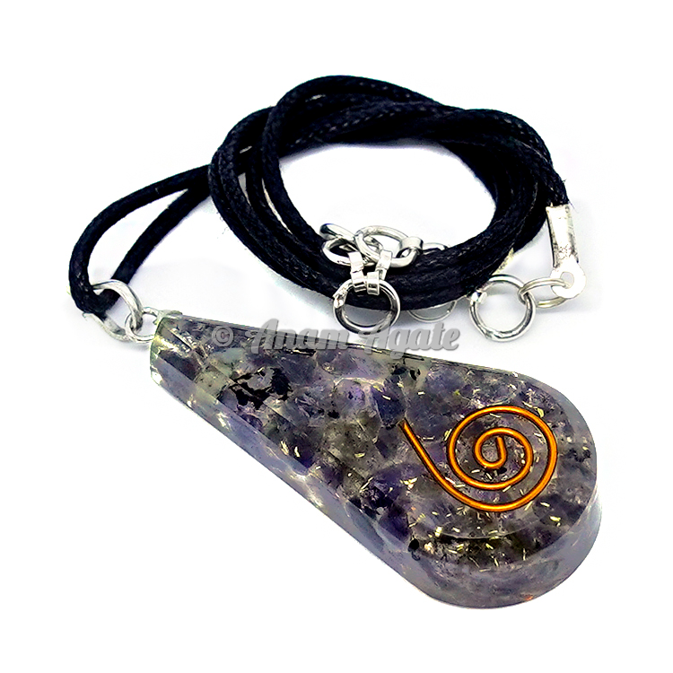 Indian Amethyst Orgonite Pendant EMF Protection