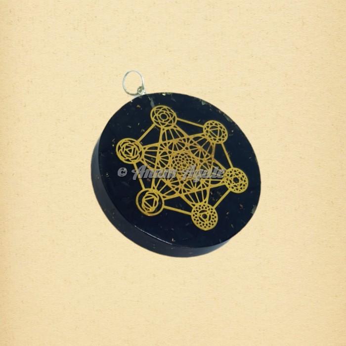 Metatron`s CubeOrgonite Pendant | Sacred Geometry Symbols Pendants