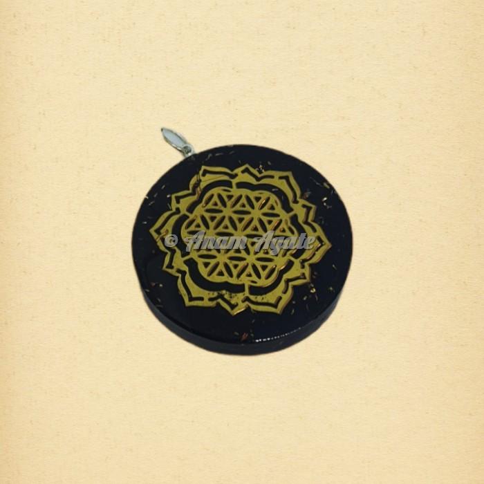 Orgonite Pendant Flower Of Life   Sacred Geometry Symbols Pendants