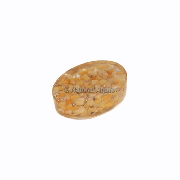 Golden Quartz Orgonite Worry Stone