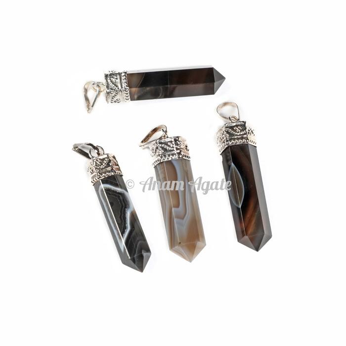 Black Onyx Cap Pencil Pendants