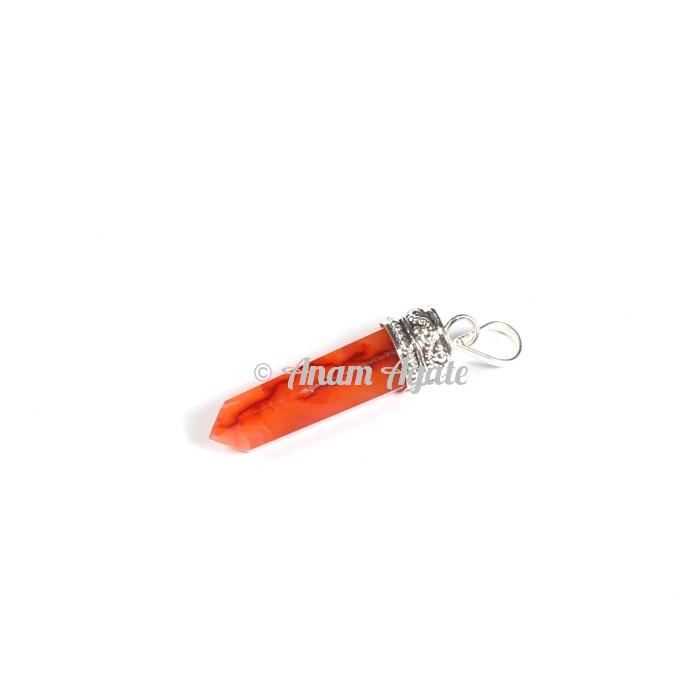 Red Carnelian Cap Pencil Pendants