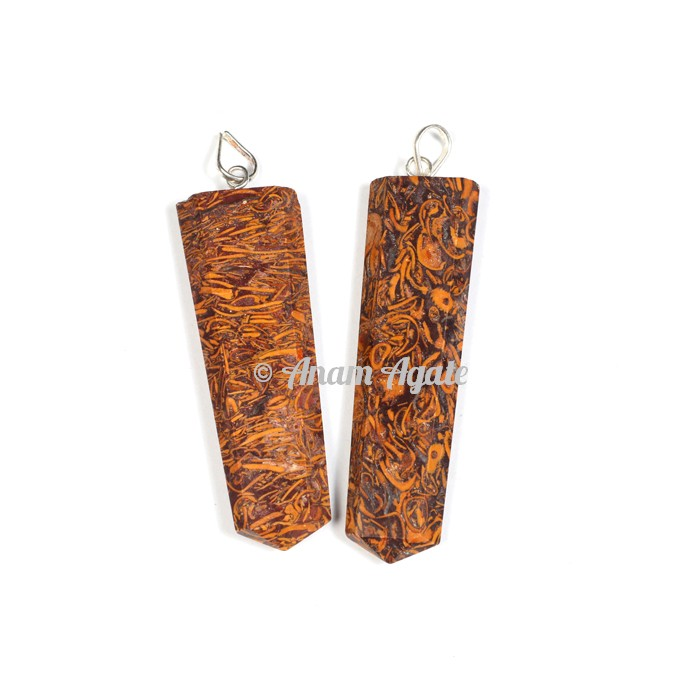 Calligraph Stone Flat Pencil Pendants
