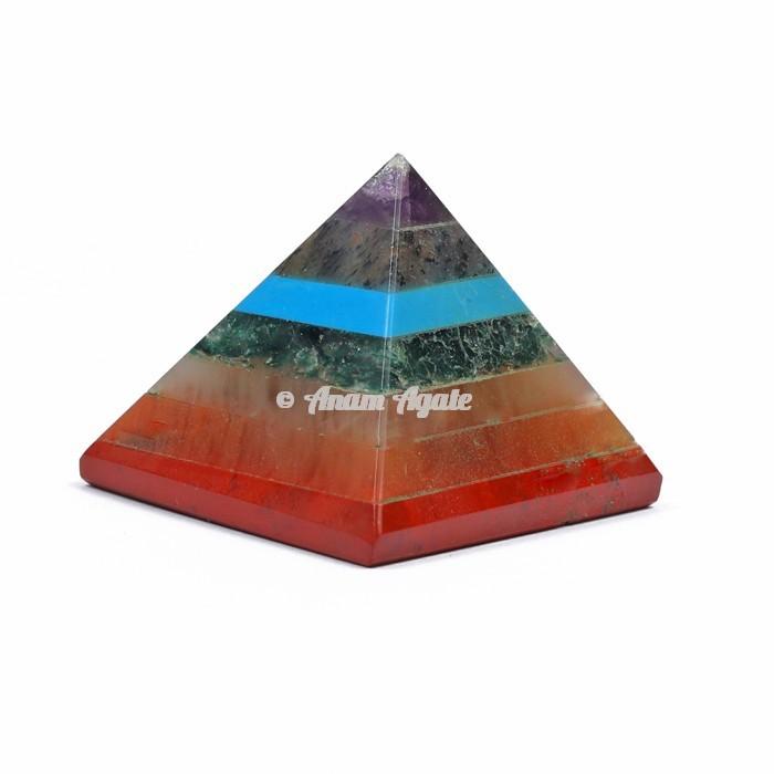 Bonded Seven Chakra Pyramid