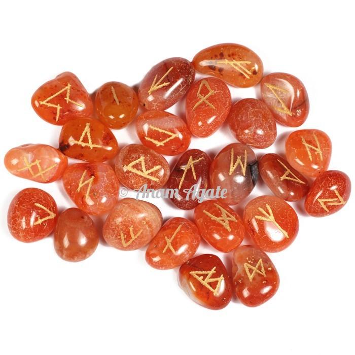 Orange Carnelian Rune Set
