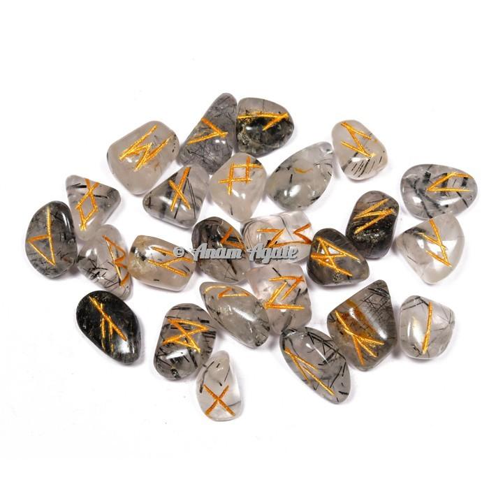 Black Rutile Rune Set