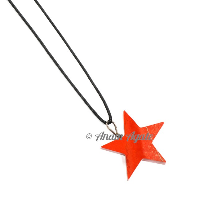 Red Jasper Star Pendants