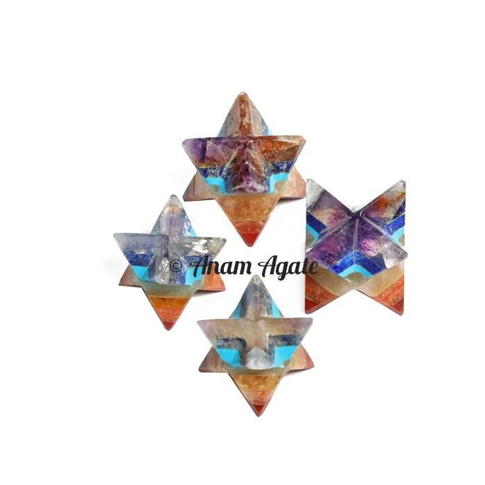 Chakra Bonded with turquoise Merkaba Star