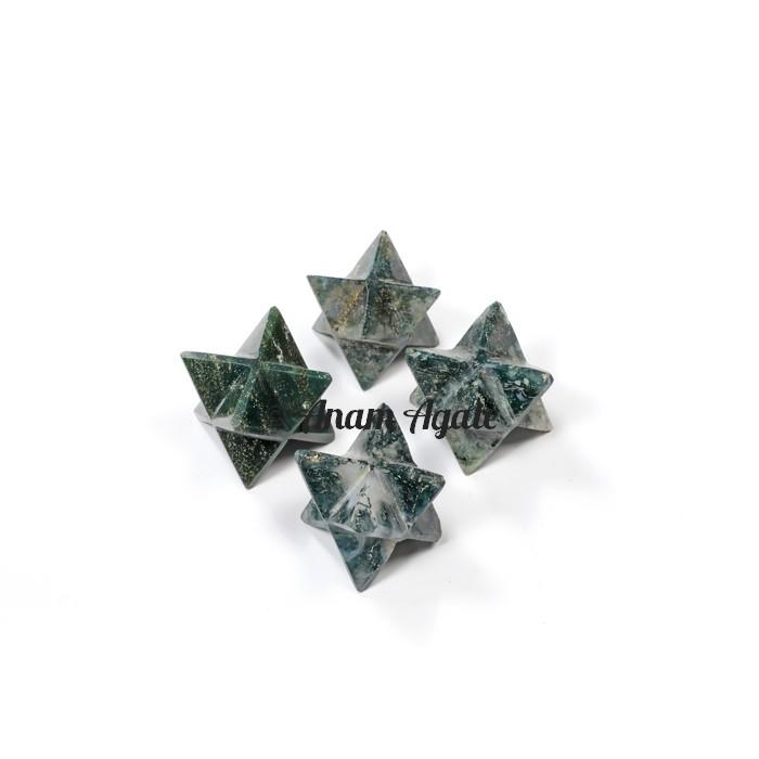 Moss Agate Merkaba Star