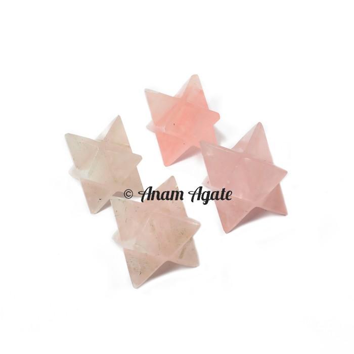 Rose Quartz Merkaba Star