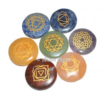 Engraved 7 Chakra Stone Set