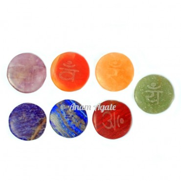 Natural 7 Chakra Sanskrit Disc Set