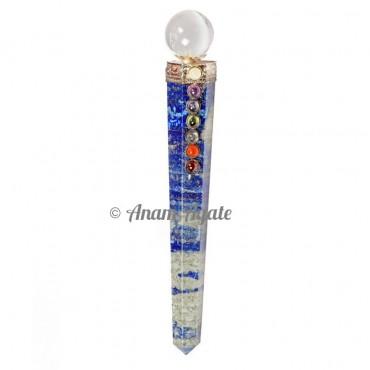 Lapis Lazuli Chakra Obelisk Healing Wands