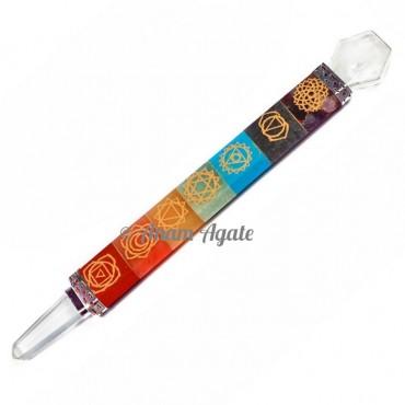 Chakra Engraved Symbol Healing Wands