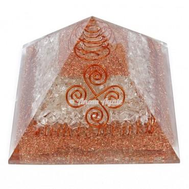 Crystal Quartz Choko Reiki Orgonite Pyramid