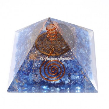Blue Onyx Orgonite Pyramid