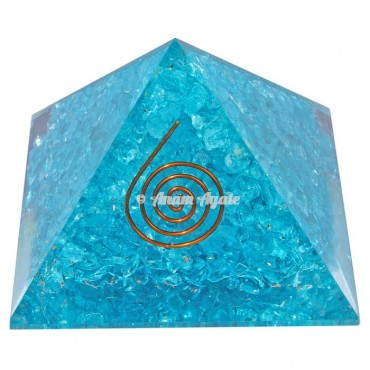Aquamarine Orgonite Pyramid