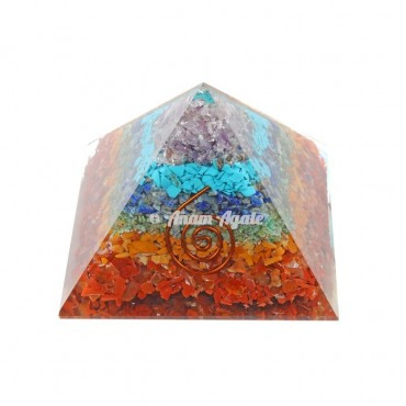 7 Chakra Layer Orgonite Pyramid