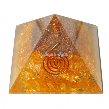 Citrine Orgonite Pyramid