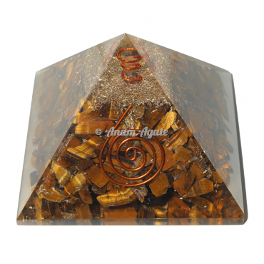 Tiger Eye Orgonite Pyramid
