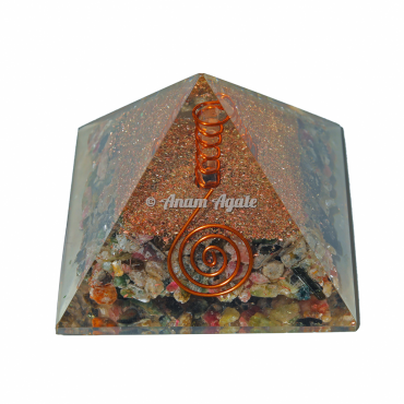 Multi Tourmaline Orgonite Pyramid