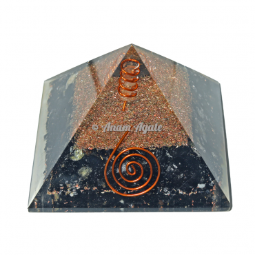 Black Tourmuline Orgonite Pyramid
