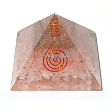 Rose Quartz Orgonite Pyramid