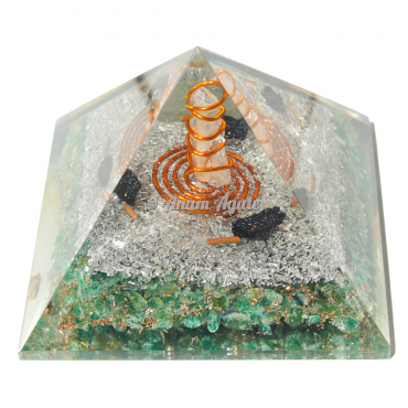 Green Jade Orgonite Pyramid