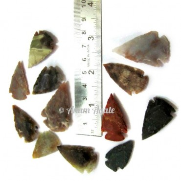 Fancy Agate Arrowheads 1 to 1.50 Inches