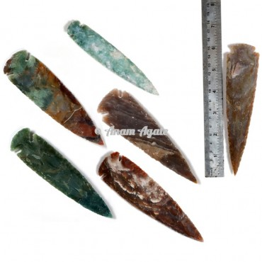 Agate Arrowheads 6 Inches