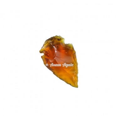 Citrine Glass Aroowhead 1-1.5 Inches