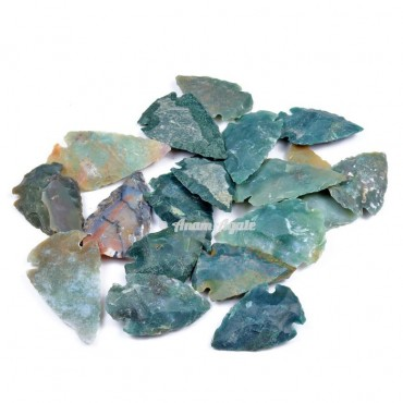 Moss Agate Arrowheads 1-1.5 Inches