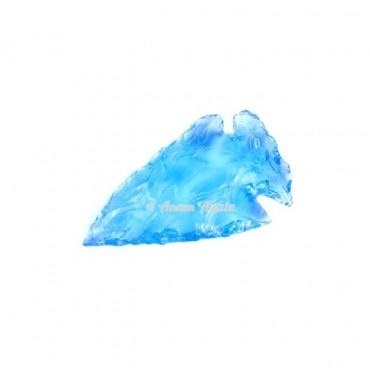 Blue Glass Arrowhead 1-1.5 Inches