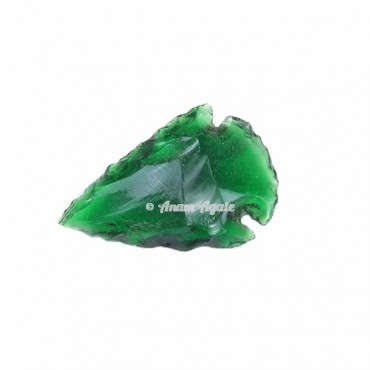 Green Glass Arrowhead 1-1.5 Inches
