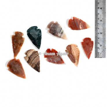 Agate Arrowheads 1.50 Inches