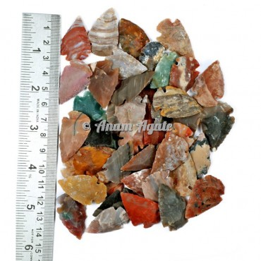 Mix Agate Arrowhead 1-1.5 Inches