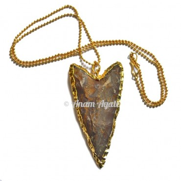 V Shape Agate Arrowheads Pendants