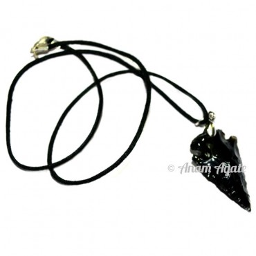 Black Obsidian Arrowhead Pendant