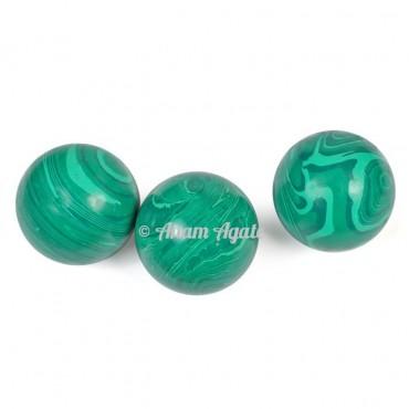 Synthetic Malachite Ball