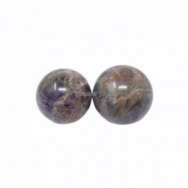 Chevron Amethyst Ball Sphere