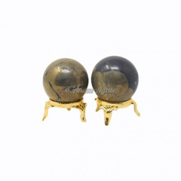 Pyrite Ball Sphere with Stand