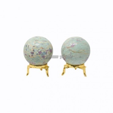 Ruby Fuchsite Ball Sphere with Stand