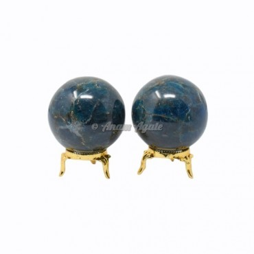 Apatite Ball Sphere with Stand