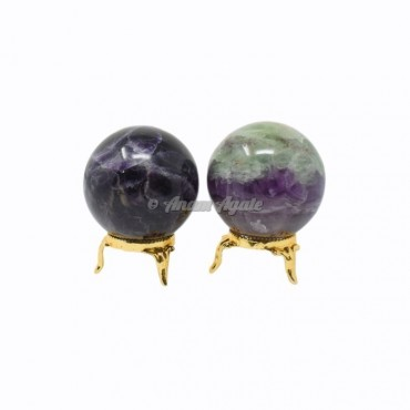Multi Fluorite Ball Sphere with Stand