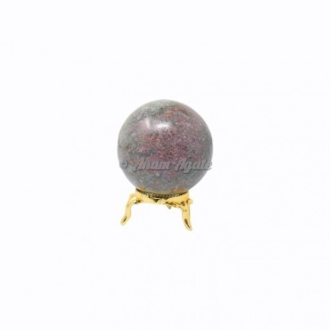 Ruby Kynaite Ball Sphere with Stand