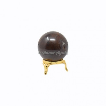 Garnet Ball Sphere with Stand
