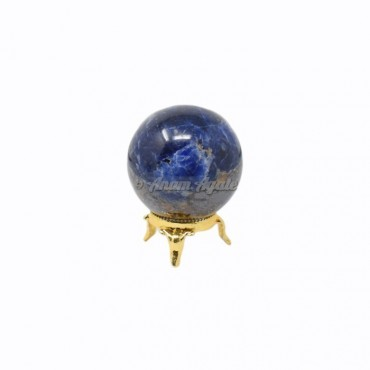 Sodalite Ball Sphere with Stand